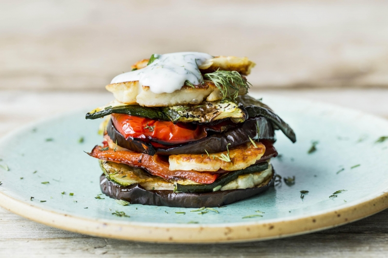 Vegetable mediterranean stack